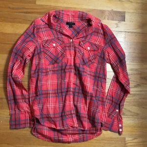 Jcrew button up flannel shirt